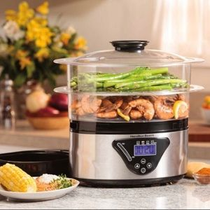 NEW Hamilton Beach Food Steamer Rice Cooker